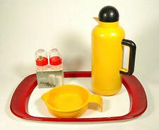 Set 4pz Guzzini Vassoio+Sale Pepe+Thermos+Pentolino design Plastica occasione-8B