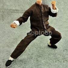 1/6 Scale Brown Kung Fu Suit Costume for Enterbay Bruce Lee Hot Toys Figures