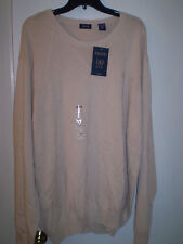 IZOD Mens Sweater Long Sleeve Crewneck (3XL) Beige Stonedust Color BRAND NEW!