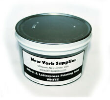 White Offset and Letterpress Printing Ink - 3.5 lbs