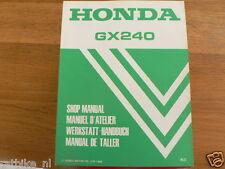 HONDA GX240  SHOP MANUAL FACTORY BOOK GENERATOR POWER K0 WERKSTATT