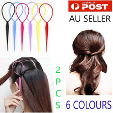 Ponytail Creator Plastic Loop Styling Tools Topsy Pony Tail Clip Hair /6 Colours