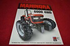 Mahindra 6000 4WD Tractor Dealer's Brochure YABE12