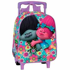 TROLLS Cooper Mochila guardería con carro fijo ruedas/ Children backpack trolley