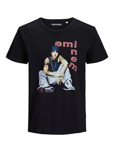 Jack & Jones Core Eminem Vintage Print T-Shirt Herren Schwarz