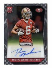 Crds Anderson NFL 2015 PANINI PRIZM ROOKIE autographes (49ers, ours)