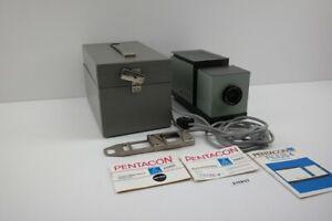 DDR Pentacon Filius 4 Kleinbildwerfer Diabetrachter Koffer Projektor #215833