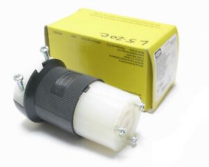 Hubbell HBL2313 125VAC 20 Amp 3-Wire 2-Pole NEMA L5-20R Twist-Lock Connector
