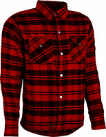 Highway21 Marksman Riding Flannel Plaids Checks Long Sleeve Black Red Grey Sizes