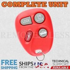 Keyless Entry Remote for 1999 2000 Pontiac Grand Am Car Key Fob Red