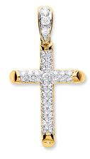 Colgante de Cruz Oro Amarillo cruz pavé cruz