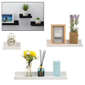 3pc Wall Mounted Floating Wall Shelf Hanging Storage Picture Ledge Display Book