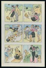 Sports Soccer Football comic humor original old 1950s postcard