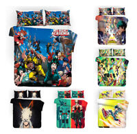 My Hero Academia Bedding Set Quilt Cover Pillowcases 3PCS Comforter Duvet Covers