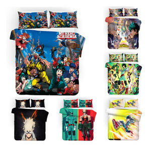 My Hero Academia Bedding Set Quilt Cover Pillowcases 3PCS Comforter Duvet Covers