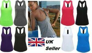 Ladies TriDri® Panelled Fitness Sports Girls Gym Yoga Running Vest Top Sizes