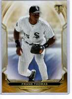 Frank Thomas 2019 Topps Triple Threads 5x7 Gold #39 /10 White Sox