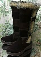 COUGAR TAMARACK 2 BROWN SUEDE LEATHER FABRIC FASHION BOOTS SHOES WOMENS SZ 8 M