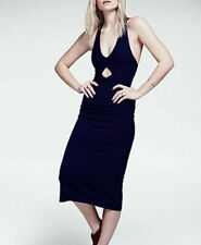 Free People Dress Navy Blue All The Right Angles Twisted Back Size L $148