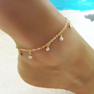 Gril Tassel Ankle Bracelet Foot Chain Jewellery Beach Anklet Fashion Water Drop