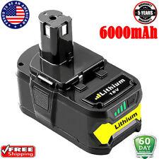 P108 6000mAH Replace For Ryobi 18V Lithium Battery ONE+ P107 P102 P104 P105 P109