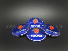 SET 4 x 60mm Saab Blue Wheel Alloy Center Stickers 9-5, 9-3