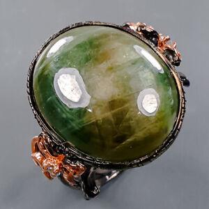 Fine Art gemstone Black Star Sapphire Ring Silver 925 Sterling  Size 9 /R178632