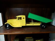 Vintage Steelcraft Large Pressed Steel Toy Dump Truck Tin Toy Lot Old Toy Truck
