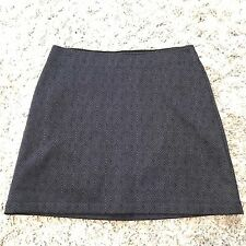 Athleta Skirt Medium A-Line Gray Black Herringbone Stretch Womens Fleece Lined