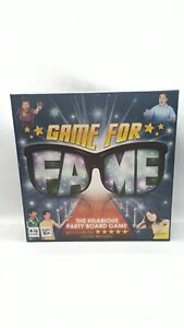 GAME FOR FAME - THE HILARIOUS PARTY BOARD GAME - VGC & 100% COMPLETE