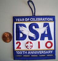BSA BOY SCOUTS AMERICA 100TH ANNIV 2010 JAMBOREE OA FLAP POCKET PATCH LONG LOOP