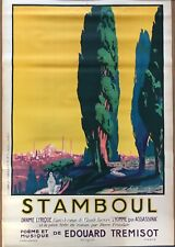 RENE H  PESLE RARE AFFICHE LITHOGRAPHIE ORIGINALE 1923 ISTAMBUL VOYAGE STAMBOUL