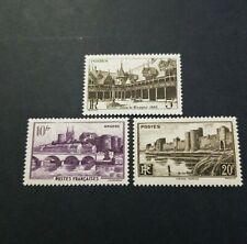 FRANCE TIMBRE MONUMENTS ET SITES N°499/500/501 NEUF * MH 1941 COTE 1,80€