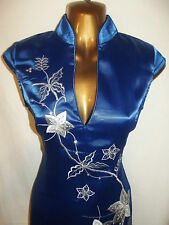 Oriental CHINESE Royal Blue STYLISH dress 18