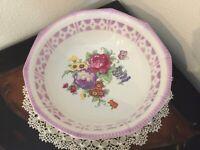 Vintage K&L Germany Porcelain Vegetable Serving Bowl Floral/Lavender Trim