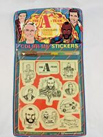 The A-Team Color-Me Stickers Stephen J. Cannell 1983