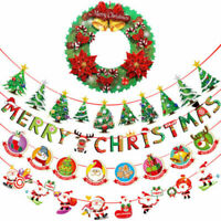 Christmas Hanging Bunting Banner Flags Garland Wedding Party Decoration 1Set