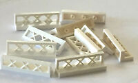*NEW* LEGO Lot of 20 Pieces Lego WHITE Fence Train Castle 1x4x1 3633