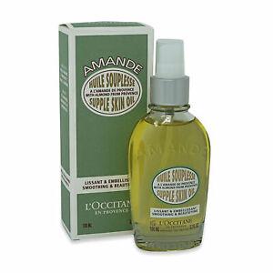 L'OCCITANE Amande Supple Skin Oil w/Almond 100ml/3.3oz, NIB Spray