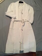 Simple White Nightgown and Robe Set Two Pieces Bridal Honeymoon Set Size XL