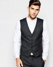 Selected Homme Pin Dot Waistcoat in Skinny Stretch Fit Size 40 BNWT RRP: £55