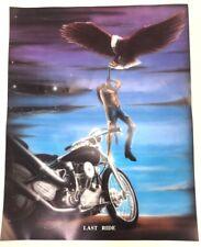 Vintage Harley Davidson Last Ride Art Poster Rare New Motorcycle Biker New 23x18