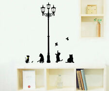 Removable Art Vinyl Safty DIY Cat Wall Sticker Decal Mural Home Room Decor GIFT