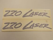 "POWERQUEST 270 LASER DECAL PAIR (2) PURPLE 13 1/8"" X 2 1/8"" MARINE BOAT"