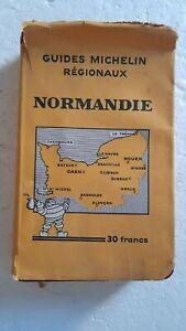 GUIDES  MICHELIN REGIONAUX 1933 / 1934  :  NORMANDIE