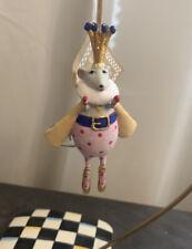 MacKenzie-Childs Patience Brewster Mouse King Mini Ornament Nib Nwt