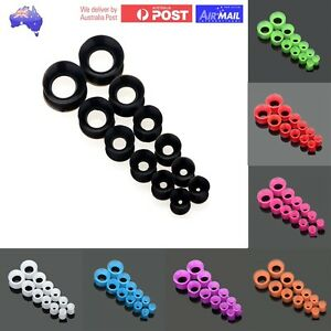 1 Set Flexible Silicone Tunnels Stretcher Plug Round Retainer Ear Open Soft Pair