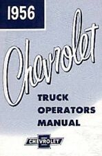 Chevrolet 1956 Truck Owner's Manual 56 Chevy Pick Up