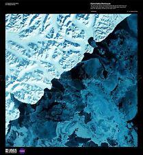 La Ciencia mapa satélite Kamchatka Rusia Hielo Nieve réplica cartel impresión pam1548
