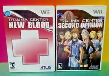Trauma Center New Blood + Second Opinion - Nintendo Wii + Wii U Games Complete